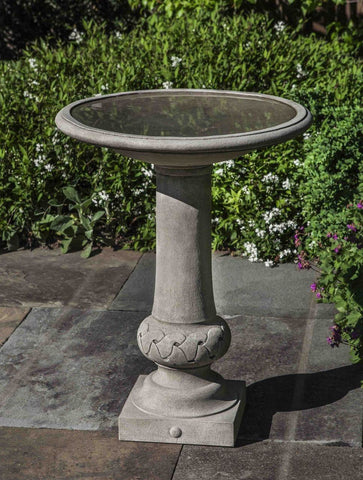 Image of Campania International Williamsburg Knot Garden Birdbath Life on Plum