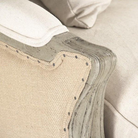 Image of Zentique Adele Sofa in Jute and Birch