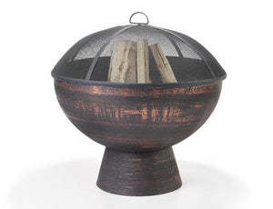 Good Directions Oversized Fire Bowl with Spark Screen