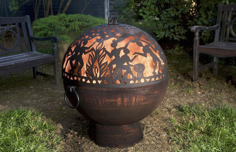 Good Directions Oversized Fire Bowl with Full Moon Party FireDome