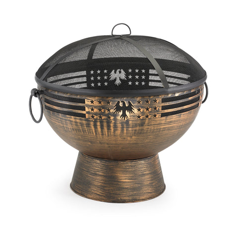 Good Directions Oversized Eagle Fire Bowl with Spark Screen