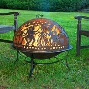 Fire Pit with Full Moon Party FireDome Spark Screen by Good Directions Life on Plum