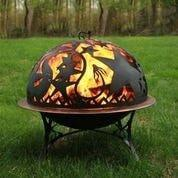 Fire Pit with Orion FireDome Spark Screen- by Good Directions Life on Plum