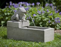 Campania International Frog Plinth Fountain The Garden Gates