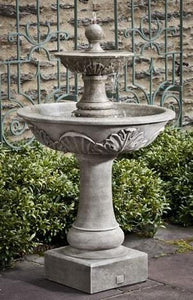 Campania International Acanthus Two Tiered Fountain Life on Plum