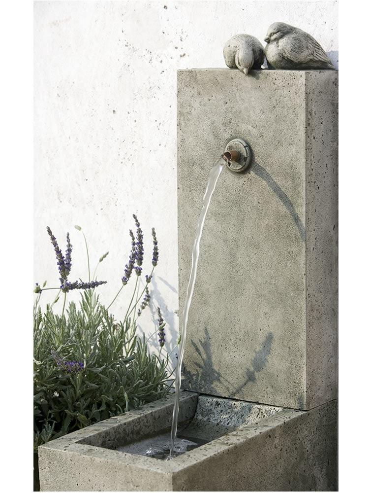 Campania International Bird Element Fountain Life on Plum