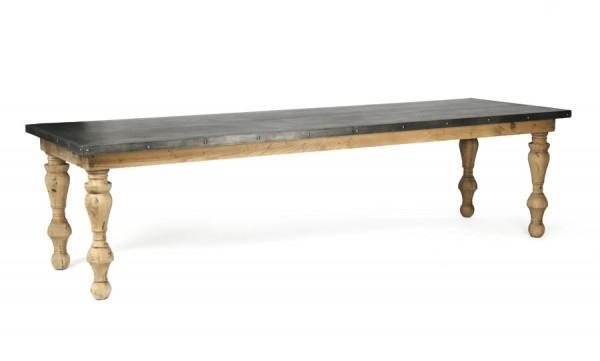 Zentique Borges Zinc Top Table