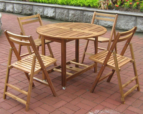 Acacia Folding Table and Chair Set