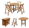 Image of Acacia Folding Table and Chair Set