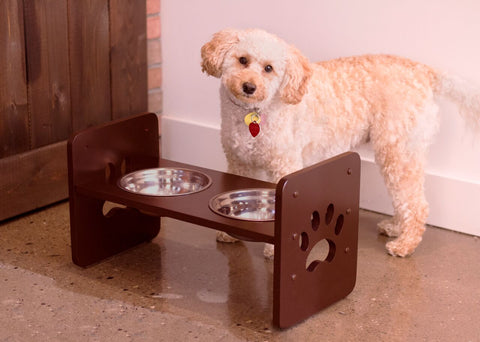 Image of Adjustable Bowls and Feeding Station