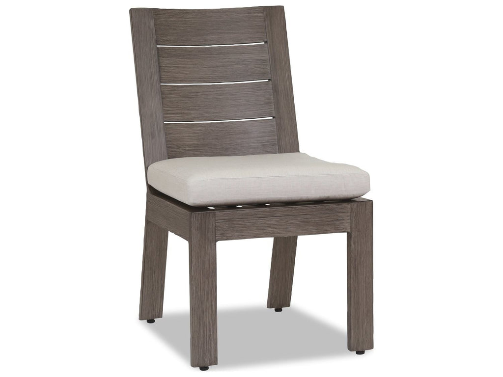 Wondrous Sunset West Laguna Armless Aluminum Outdoor Dining Chair Beutiful Home Inspiration Aditmahrainfo