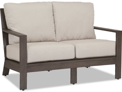 Sunset West Quick Ship Laguna Aluminum Loveseat Life on Plum