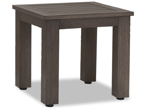 Sunset West Quick Ship Laguna 22 Square Aluminum End Table Life on Plum