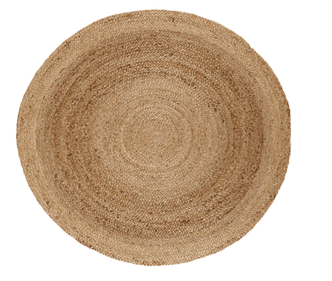 Anji Mountain Jute Area Rug, 8-feet Diameter-Life on Plum by Anji Mountain