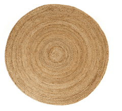 Anji Mountain Kerala Natural Jute Rug 6' Round-Life on Plum by Anji Mountain