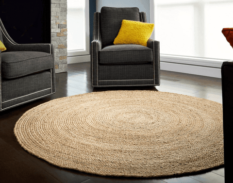 Image of Anji Mountain Kerala Natural Jute Rug 6' Round - Life onPlum - 2