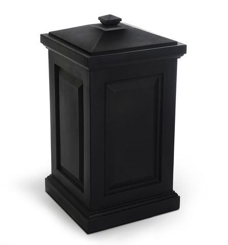 Berkshire Storage Bin by Mayne in Black Life on Plum