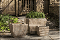Campania International Ipanema Square Planter Set of 3 in Antico Terra Cotta - Life onPlum