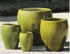 Campania International Chantal Planter Set of 4 in Highland Moss-Life on Plum by Campania International
