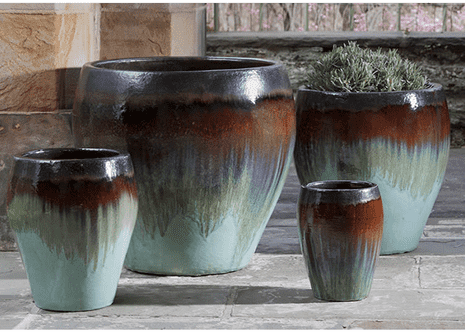Campania International Chantal Planter Set of 4 in Glacier-Life on Plum by Campania International