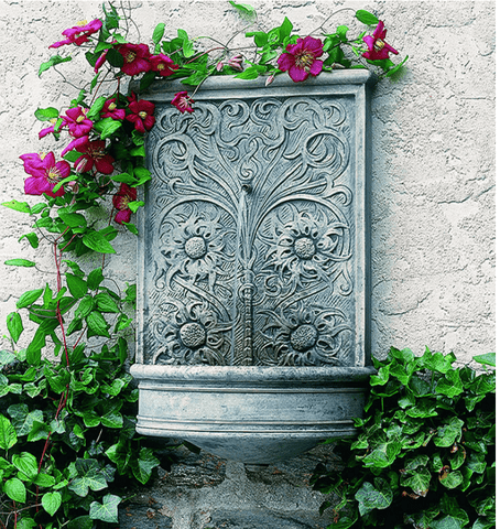 Image of Campania International Sussex Wall Fountain Life on Plum