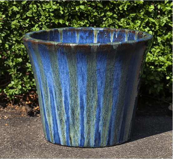 Campania International Delphine Planter Set of 5 in Maui Blue Life on Plum