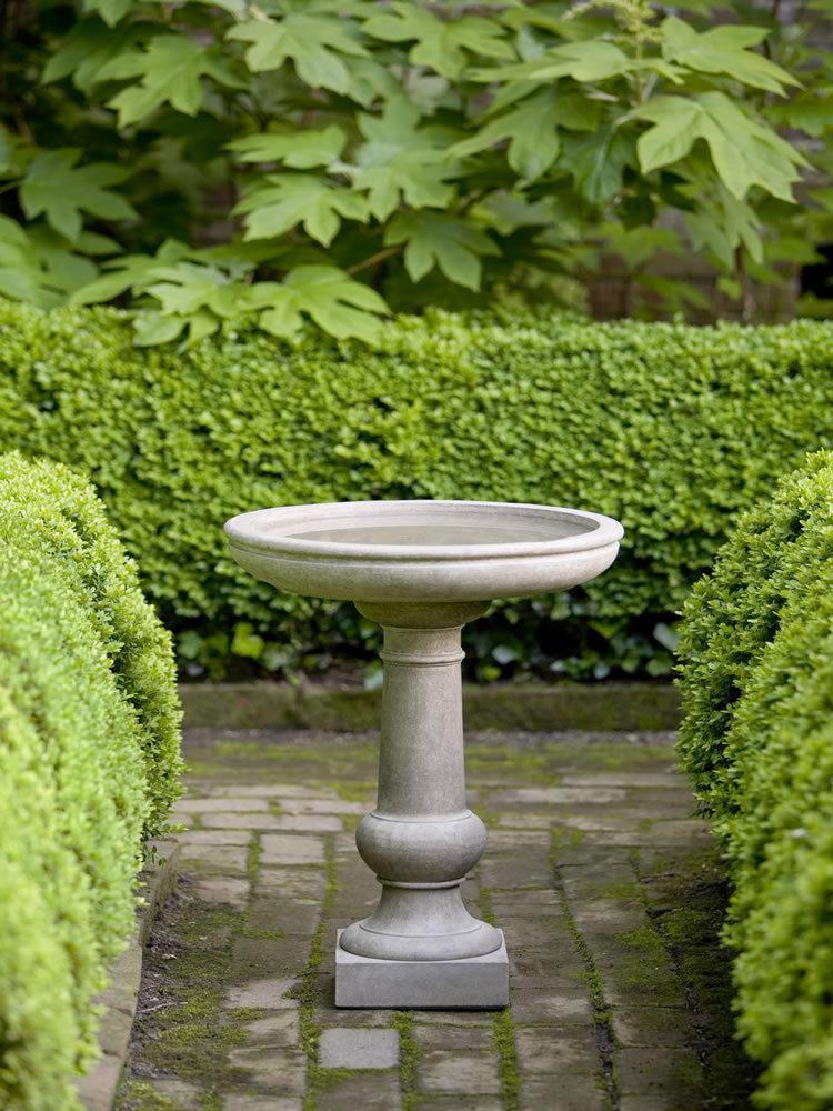 Campania International Williamsburg Tea Table Birdbath