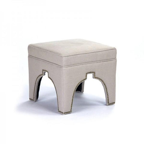 Zentique Marnix Cubic Stool in Natural Linen