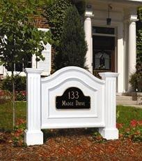 Nantucket Address Sign in White The Garden Gates