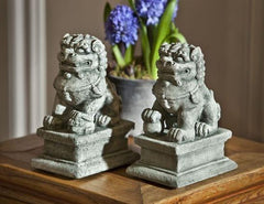 Campania International Small Temple Foo Dog Left and Right Set - Life onPlum - 1