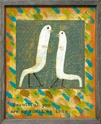 Sugarboo Designs Beautiful You Love Birds Art Print Life on Plum