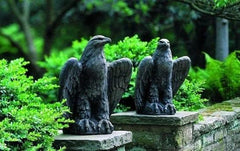 Campania International Eagle Looking Right and Left Garden Statue Set The Garden Gates
