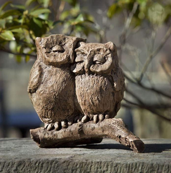 Campania International Honeymoon Owls Statue The Garden Gates