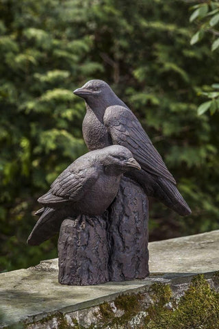 Image of Campania International Nevermore Raven Statue Life on Plum