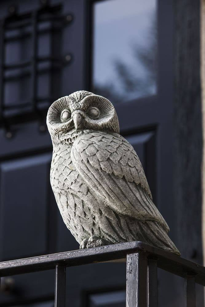 Campania International Night Owl Statue Life on Plum