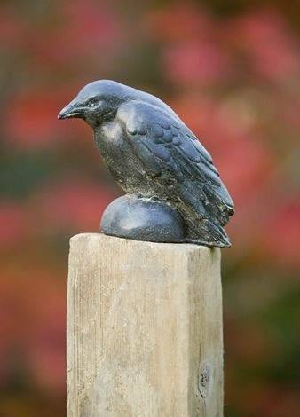 Image of Campania International Small Raven Statue Life on Plum