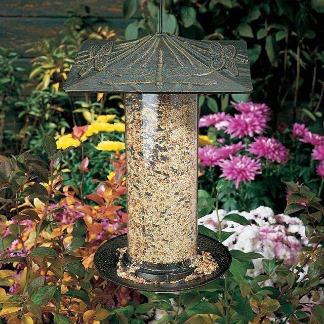 Dragonfly 12-inch Tube Feeder By Whitehall Products Life on Plum