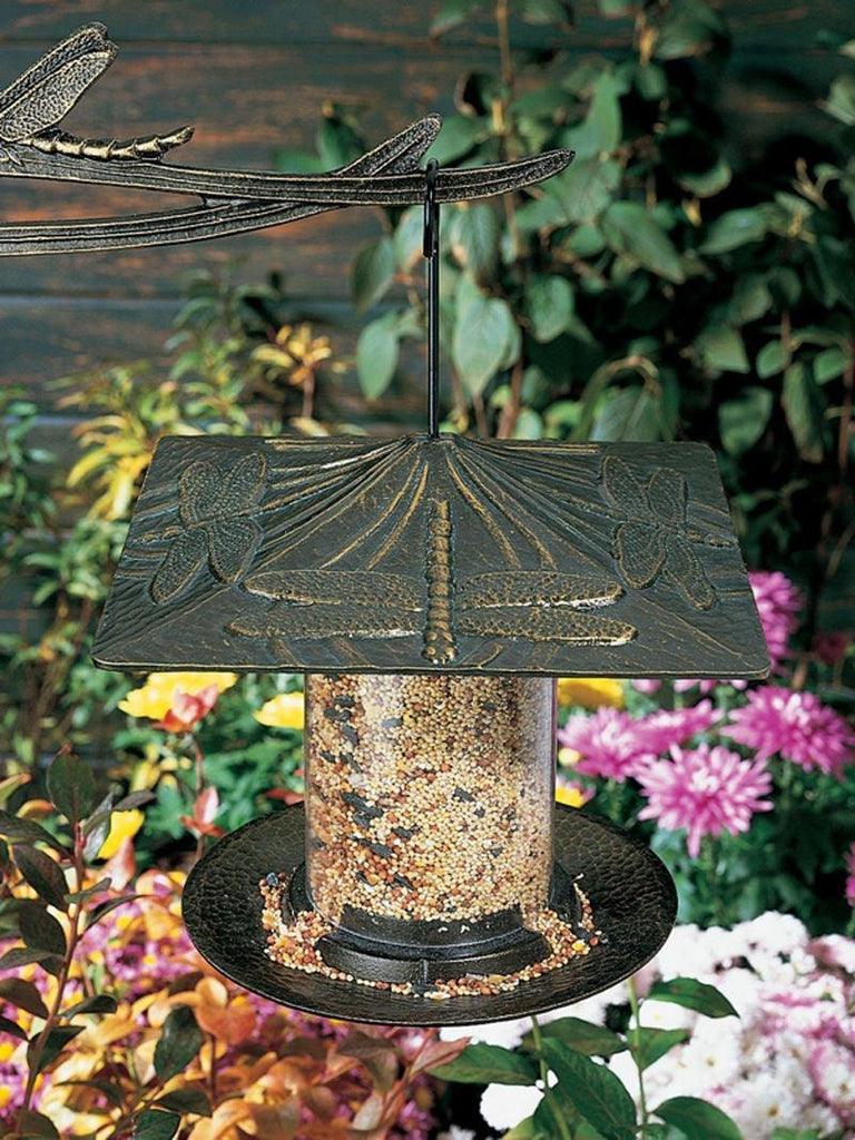 Dragonfly 6-inch Tube Feeder By Whitehall Products Life on Plum