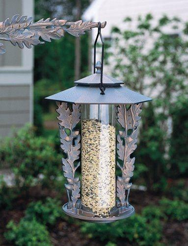 Oakleaf Silhouette 12-inch Feeder By Whitehall Products Life on Plum