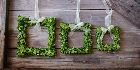 Image of Mills Floral Preserved Boxwood Square Wreath Set with Ribbon