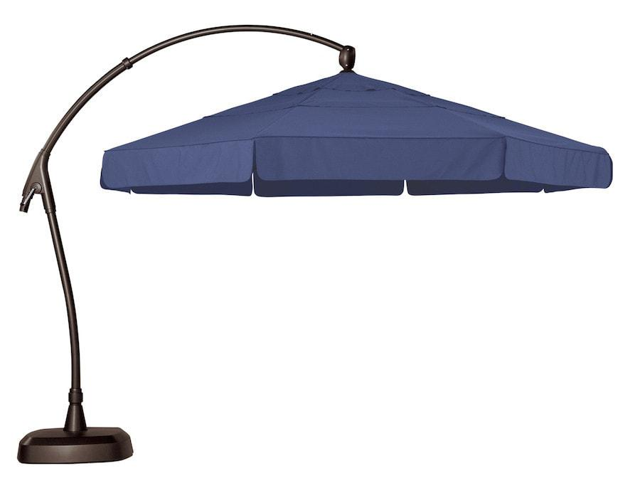 Treasure Garden 11ft Curved Cantilever Umbrella Life on Plum