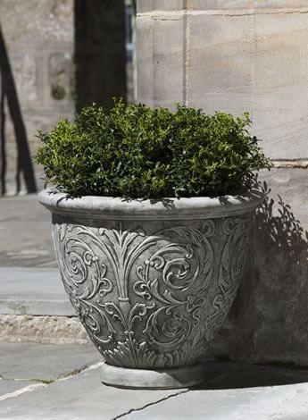 Image of Campania International Arabesque Planter (Small) Life on Plum
