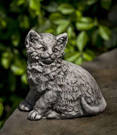Image of Campania International Cutie Kitty Garden Statue Life on Plum