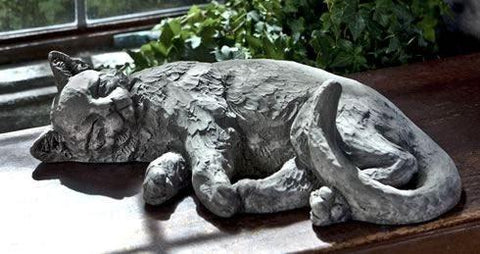 Image of Campania International Dreaming Kitty Garden Statue Life on Plum