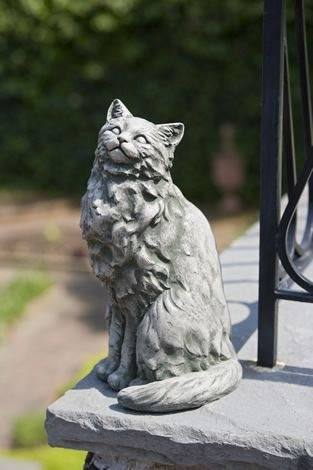 Campania International Tanner the Cat Statue-Life on Plum by Campania International