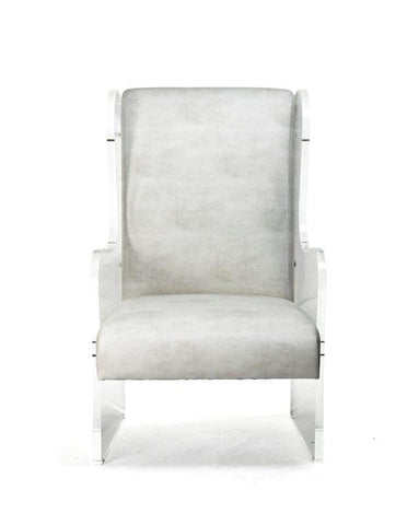 Acrylic Wingback Chair By Zentique Life on Plum
