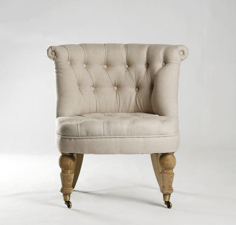 Image of Amelie Slipper Chair By Zentique Life on Plum