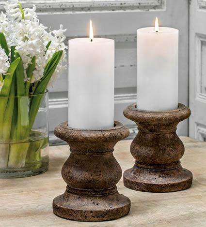 Campania International Classic Tall Pillar Candleholder Set of 4 Life on Plum