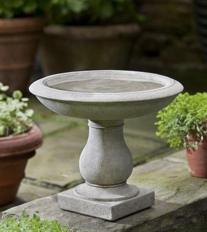 Campania International Beauvoir Birdbath Life on Plum