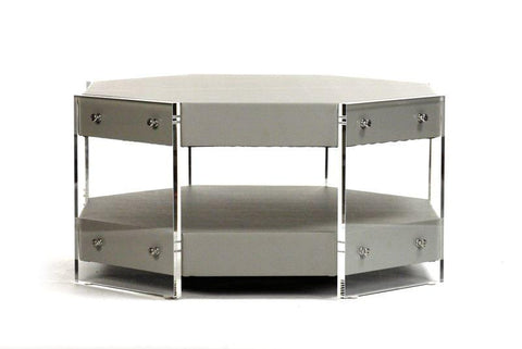 Acel Acrylic Coffee Table By Zentique Life on Plum